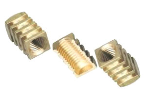 roto moulding brass inserts